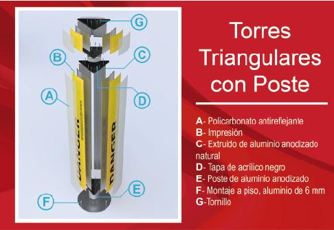 Torres Triangulares con Poste