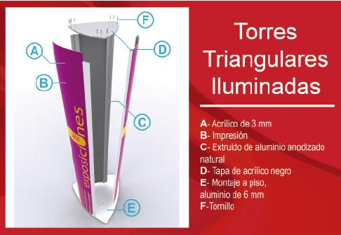 Torres Triangulares Iluminadas