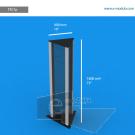 TR17p - 180 cm de alto x  40 cm de ancho