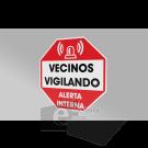 15 x 15/vecinos vigilando / señal / letrero / protección civil / ACP