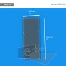 WFP210ch - 55.9 cm de ancho x 132 cm de alto