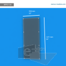 WFP211ch - 55.9 cm de ancho x 137.1 cm de alto