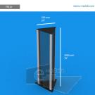 TR21p - 200 cm de alto x 50 cm de ancho