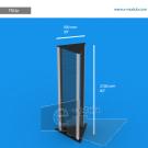 TR22p - 210 cm de alto x 50 cm de ancho