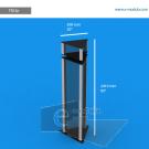 TR23p - 241 cm de alto x 50 cm de ancho
