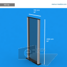 VLF23p - 200 cm de alto x 70 cm de ancho