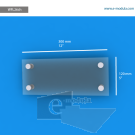 WFL26ch - 30 cm de ancho x 12 cm de alto