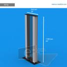 VLF2p - 110 cm de alto x 25 cm de ancho