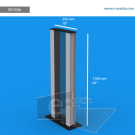 VLF2SAp - 110 cm de alto x 25 cm de ancho