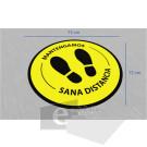 75 x 75 cm/ sana distancia / señal / letrero / protección civil / vinyl