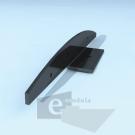 Clip de 21cm Curvo Negro