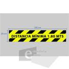 20 x 100 cm/ distancia minima escalera / señal / letrero / protección civil / vinyl