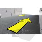 70 x 30 cm/ direccion unica / señal / letrero / protección civil / vinyl
