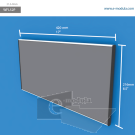WFL52p - 42 cm de ancho x 21.6 cm de alto