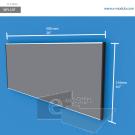 WFL53p - 50 cm de ancho x 21.6 cm de alto