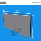 WFL58p - 60 cm de ancho x 27 cm de alto
