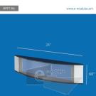 WFP136c-60cm de Ancho por 15.2cm de alto