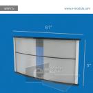 WFP77c-21.5cm de Ancho por 12cm de alto.