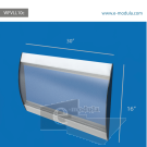 WFVLL10c-40cm de alto por 76cm de ancho