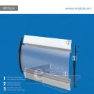WFVLL5c-30cm de alto por 45cm de ancho